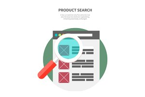 Search Product Website Design Flat