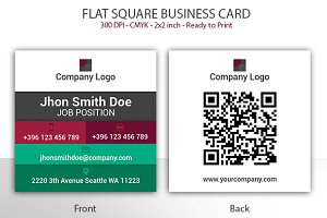 Flat Square Business Card