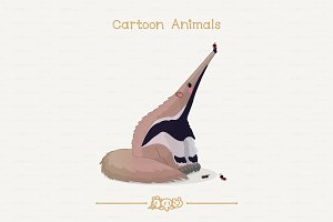 ♥ vector Ants and cute anteater