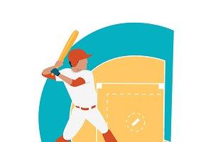 Baseball Sport Concept Icon