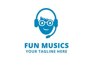 Fun Music Logo Template