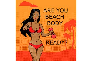 Fitness Girl. Beach Body Ready