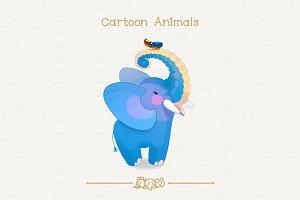 ♥ vector African elephant