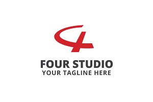 Four Studio Logo Template