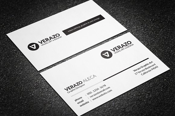 Simple black white business card business card templates simple black white business card business card templates creative market colourmoves