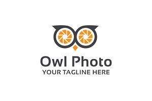 Owl Photo Logo Template
