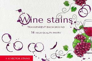 Real wine stains set