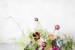 Multicolored Woodland Bouquet Stock