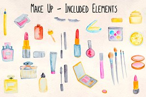 30+ Make up Cosmetics Watercolor Kit