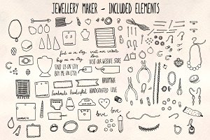 40+ Jewelry Craft Vector Bundle