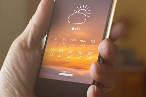 Smart phone with weather forecast