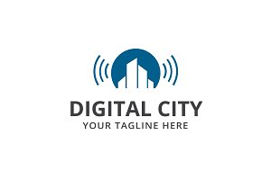 Digital City Logo Template
