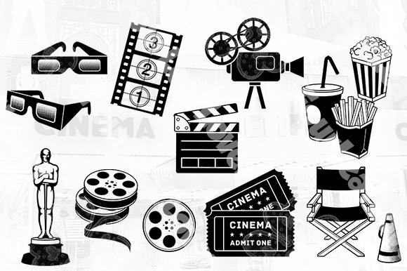 Cinema Tickets Templates in Illustrations - product preview 2