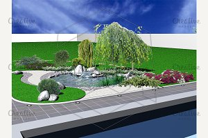 Hardscapes and koi pond