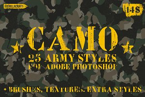 Camo Styles for Adobe Photoshop