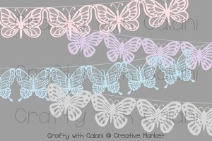 Wedding Butterfly Lace Bunting