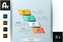 Infographic Paper Ribbon Template