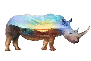 Double exposure set | Rhino
