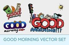Good morning vector set.