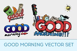 Good morning vector set.
