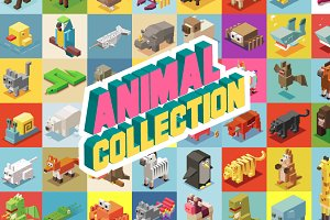 Animals Isometric collection
