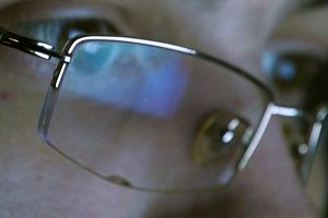 Close up shot of man in glasses