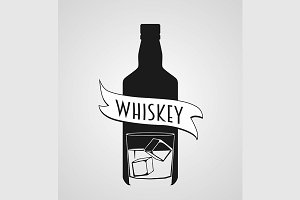 Logotype with whiskey