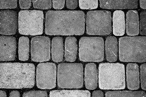 Texture of retro stone brick wall