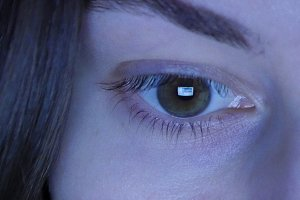 Close up of girl's eye