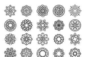 Ornamental floral circular mehndi