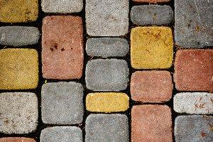 Texture of multicolored stones