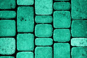 Texture of turquoise stone wall