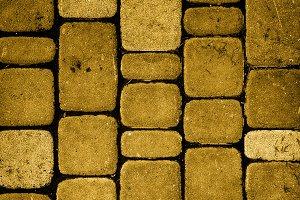 Texture of golden stones