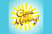 Good morning Hand-drawn typographic