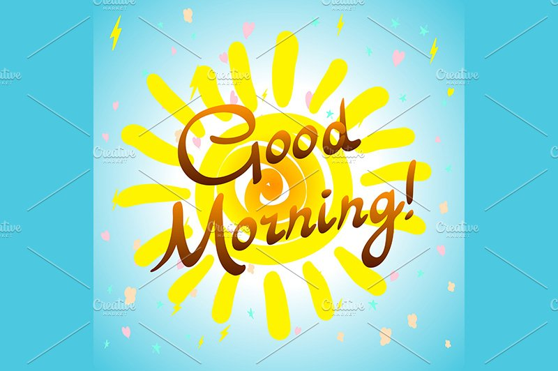 Shortstraw Good Morning Sunshine Zip : Good morning hand drawn typographic graphics creative