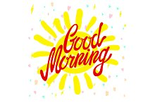 Good morning calligraphic vector