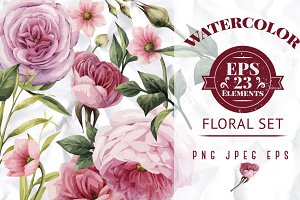EPS Pink flowers
