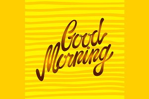 Good morning word written vector