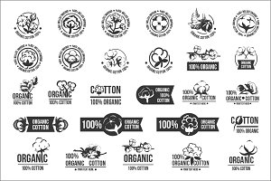 Cotton icons logo set