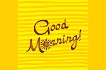 Good morning calligraphy style