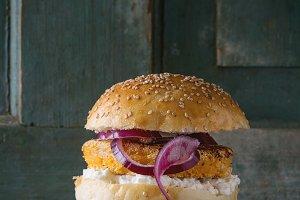 Sweet potato veggie  burger