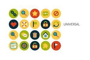 Flat icons set - Universal