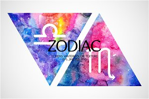 Watercolor Zodiac Signs