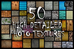 50 in 1 Photo Textures Pack (Vol.1)