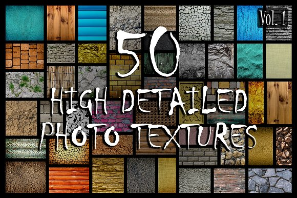 50 in 1 Photo Textures Pack (Vol.1) - Textures