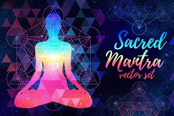 Sacred Mantra: 12 vectors set