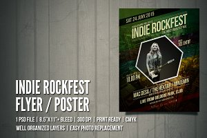 Indie Rock Flyer / Poster