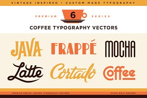 Coffee Typography Vectors