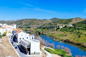View of Mertola Town, Portugal