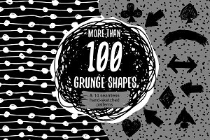 Hand drawn grunge shapes